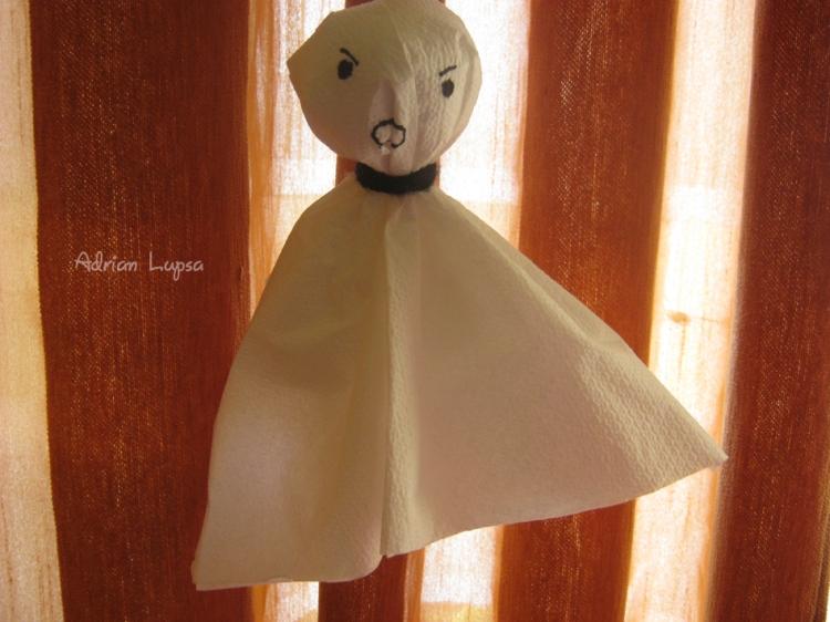 paper halloween ghost